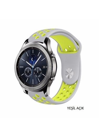 Techmaster Huawei Watch Gt Gt2 Honor Magic Watch 2 TME Spor Silikon Kordon Kayış Yeşil